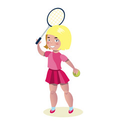 Young beautiful girl - tennis player vector