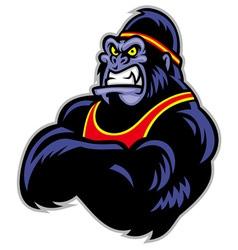 big sporty gorilla crossed arm vector image