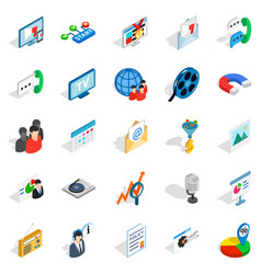 educational video icons set isometric style vector image vector image