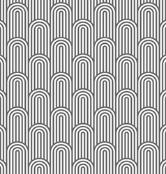 Monochrome striped flaked seamless pattern vector image vector image