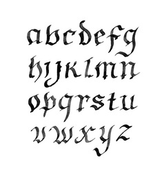 Hand drawn letters retro alphabet ink vector