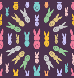 seamless pattern easter greeting with bunnies vector image vector image