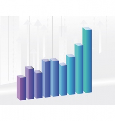 background to the growth charts vector image vector image