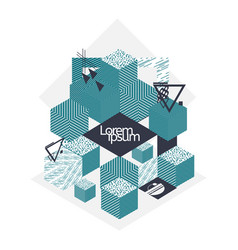creative geometric shapes background vector image