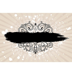 Grunge banner with old background Vintage vector image vector image