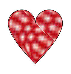 heart isolated symbol vector image vector image