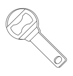 metal bottle opener for beer bottlesa device for vector image