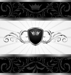 ornate dark decorative frame - vector image