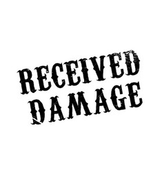 Received damage rubber stamp vector
