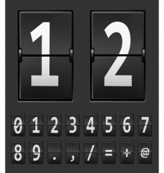 vector number of mechanical p vector image vector image