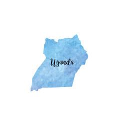 Abstract uganda map vector