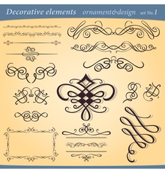 decorative ornament elements vector image vector image