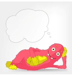 Funny Monster Relaxation vector image vector image