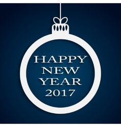 New year blue background christmas ball 2017 vector