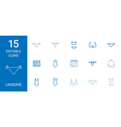 15 lingerie icons vector