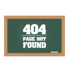 404 error message on chalkboard vector image