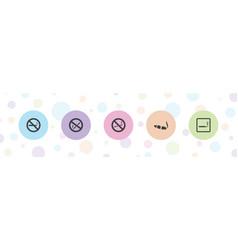 5 cigar icons vector