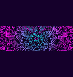 Abstract psychedelic trippy cyberpunk vector