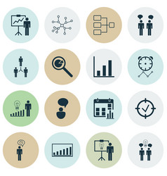 Administration icons set includes icons such as vector
