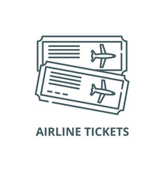 airline tickets line icon airline tickets vector image