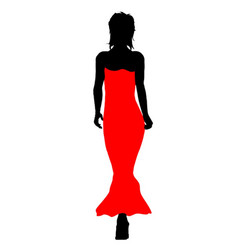 Ball gown fashion vector