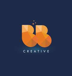 Bb letter with origami triangles logo creative vector