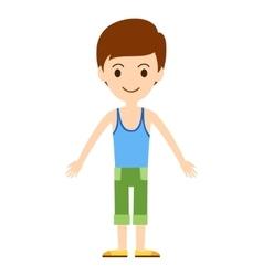 Beautiful cartoon fashion boy vector image vector image
