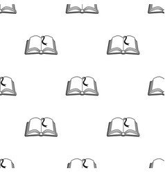 book with bookmark icon in black style isolated on vector image