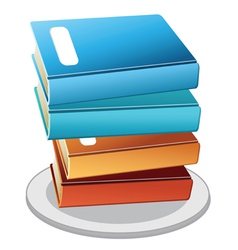 books plate vector image