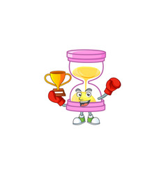 Boxing winner sandglass isolated with on white vector