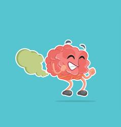 brain fart cartoon vector image