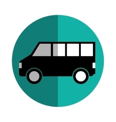 Bus vehicle silhouette isolated icon vector
