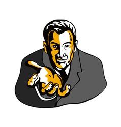 Businessman Extending Hands vector image