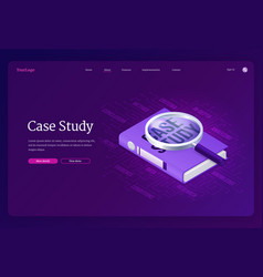 Case study research business information vector