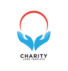 charity logo design template vector image