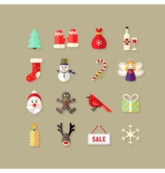 Christmas Flat Icons Set 4 vector