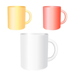 Colored mugs examples vector