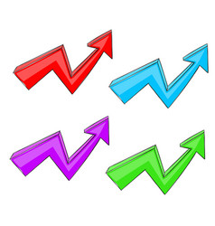 colored up arrows rising trend graph vector image