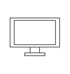 Computer screen technology vector