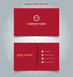 Creative business card and name card template red vector image fbccfo Gallery