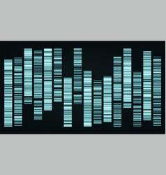 design color big genomic data visualization vector image