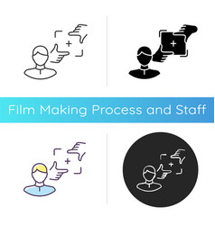director photography icon vector image