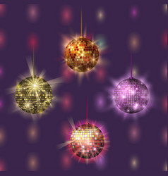 disco ball discotheque music party night club vector image