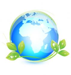 earth leaf vector image
