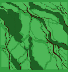 Earthquake black cracks on green background vector