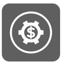 Financial settings flat squared icon vector