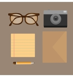 flat set of modern stuff and devices vector image