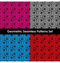 Geometric seamless patterns EPS 8 vector image