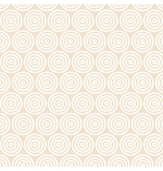 Geometric white pattern with circles vector image