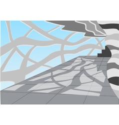 hall light and shadow vector image